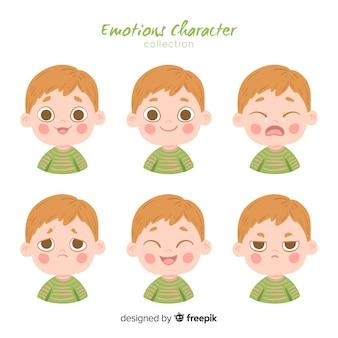 Характер показывая эмоции