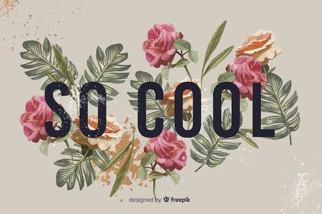 Слоган с реалистичным фоном цветов
