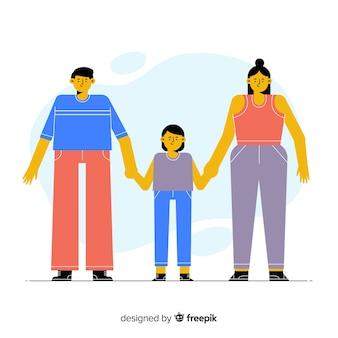 Ручной обращается семейный портрет, держась за руки