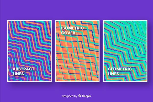 Коллекция геометрических линий обложки