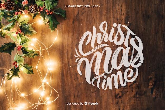 クリスマスの時間レタリング