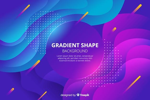 カラフルなグラデーション波状形状の背景