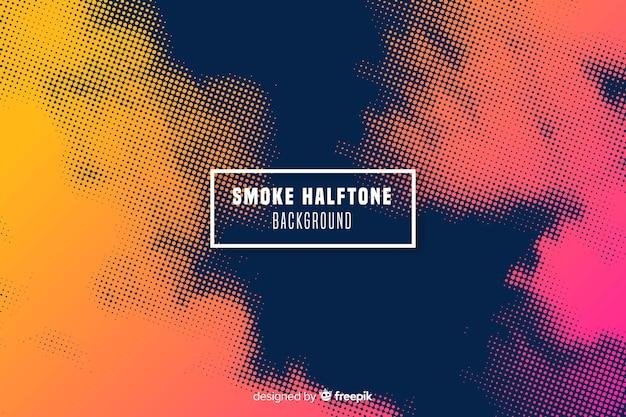 抽象的なグラデーションハーフトーンの煙の背景