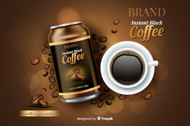 現実的なコーヒー広告