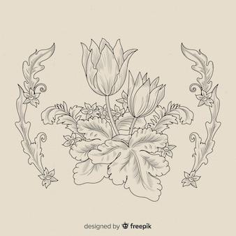 Барочные винтажные цветы