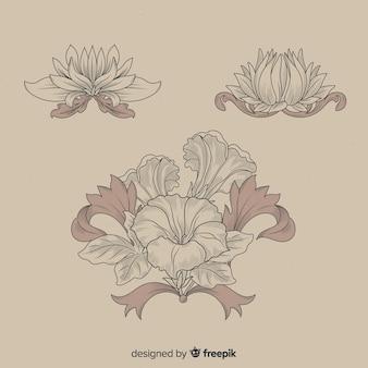 Барочная коллекция старинных цветов