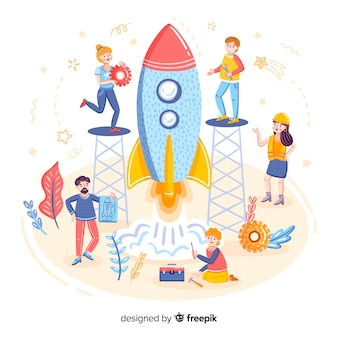 ロケットを造ることの概念
