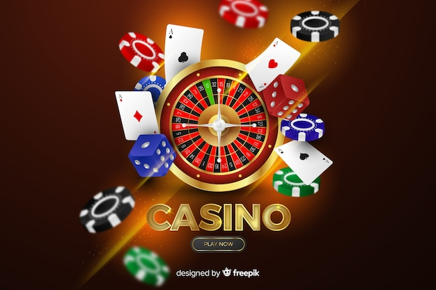 Реалистичные элементы казино фон