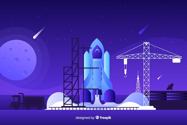 グラデーションロケット