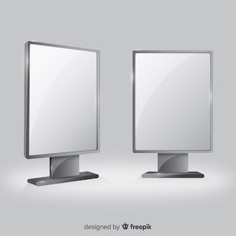 Реалистичный рекламный щит