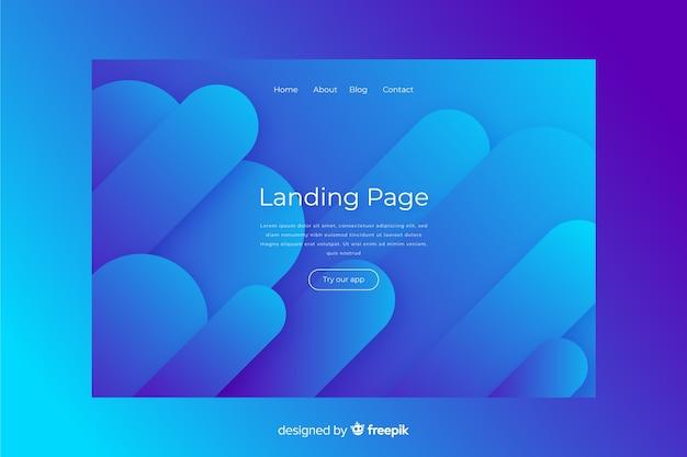 抽象的な青いランディングページ