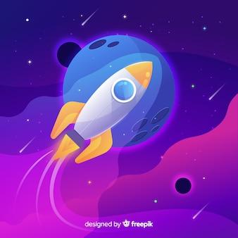 グラデーションロケットの背景