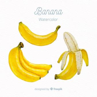 水彩バナナ