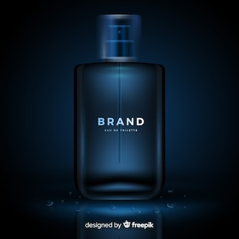 リアルな高級香水広告テンプレート