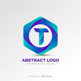 グラデーションの抽象的なロゴ