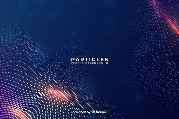 グラデーション粒子の背景