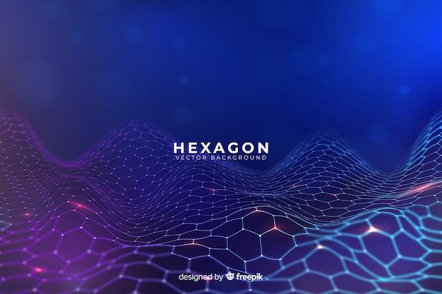 Футуристический гексагональной сети фон