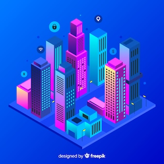 Изометрический умный город