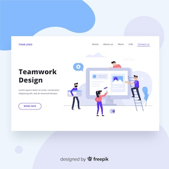 チームワーク設計のランディングページ