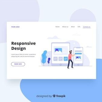 レスポンシブルデザインのランディングページ