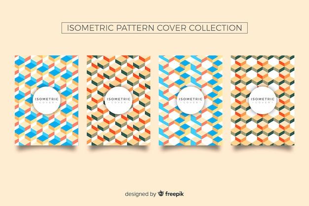 Коллекция обложек изометрическим рисунком