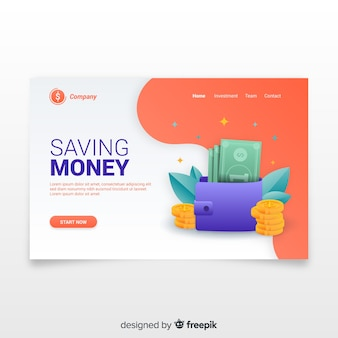 Целевая страница денег