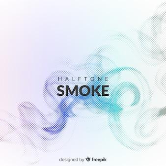グラデーションハーフトーンの煙の背景