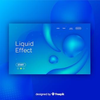 液体効果のあるランディングページ