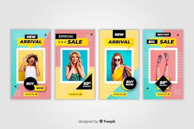 Модная распродажа инстаграм историй