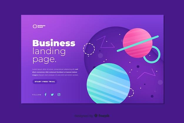 現代のビジネスランディングページ