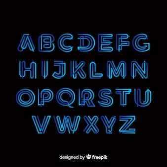 Шаблон градиента типография алфавит