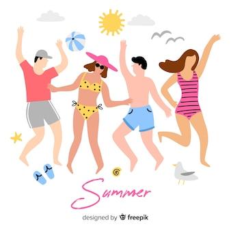 夏を楽しむ人
