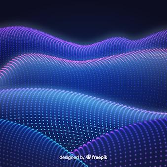抽象的なグラデーション円形粒子の背景