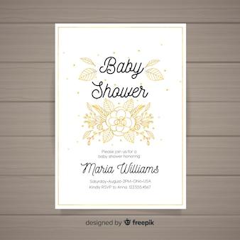 花のベビーシャワーのテンプレート