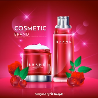 リアルな自然化粧品広告の背景