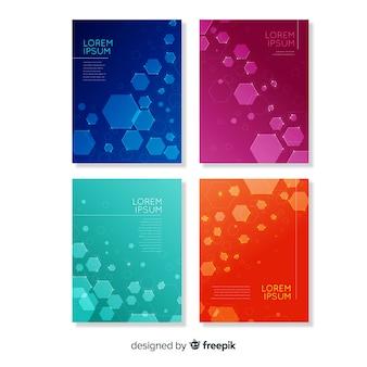 Коллекция брошюр в технологическом стиле