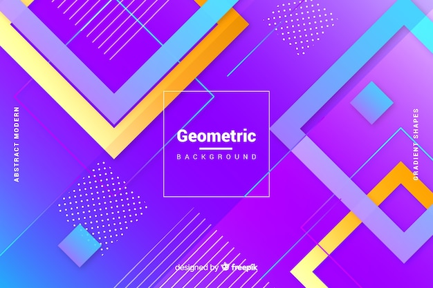 平らなグラデーションの幾何学的図形の背景