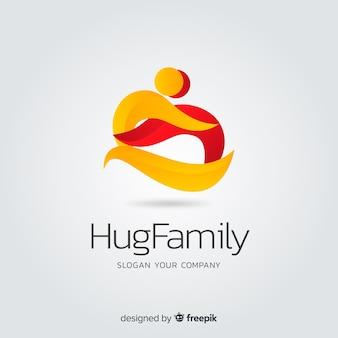 Градиент плоский абстрактный логотип компании
