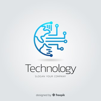 Градиент абстрактные технологии логотип компании