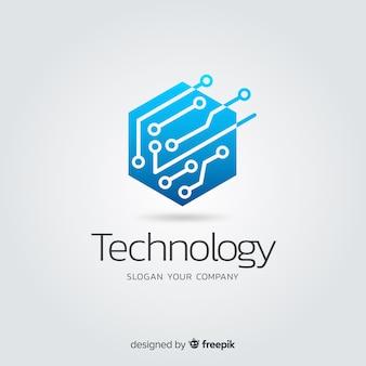 グラデーション抽象テクノロジー会社ロゴタイプ