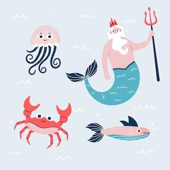 Ручной обращается характер морской жизни