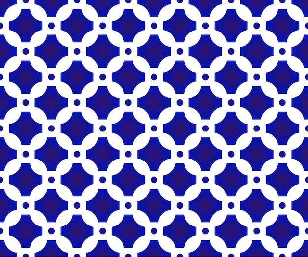 青と白の日本と中国のシームレスなパターン