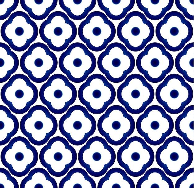 シームレスな磁器の花のパターンのベクトル