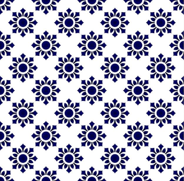 花のタイのパターン