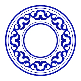 青の装飾ラウンド