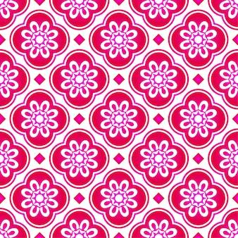 抽象的なピンクの花マレーシアパターン、美しい質感のシームレスな背景