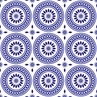 陶製タイルパターン