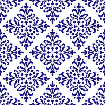 Декоративный цветочный узор дамасской