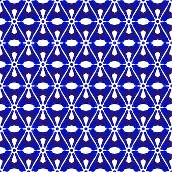 青と白のパターンの和と中華風、磁器のシームレスな背景