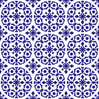 中国の陶磁器の背景、青と白の陶器の背景モダンなデザイン
